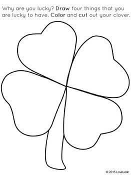 262x350 Saint Patrick's Day I Am Lucky Writing And Drawing Activity