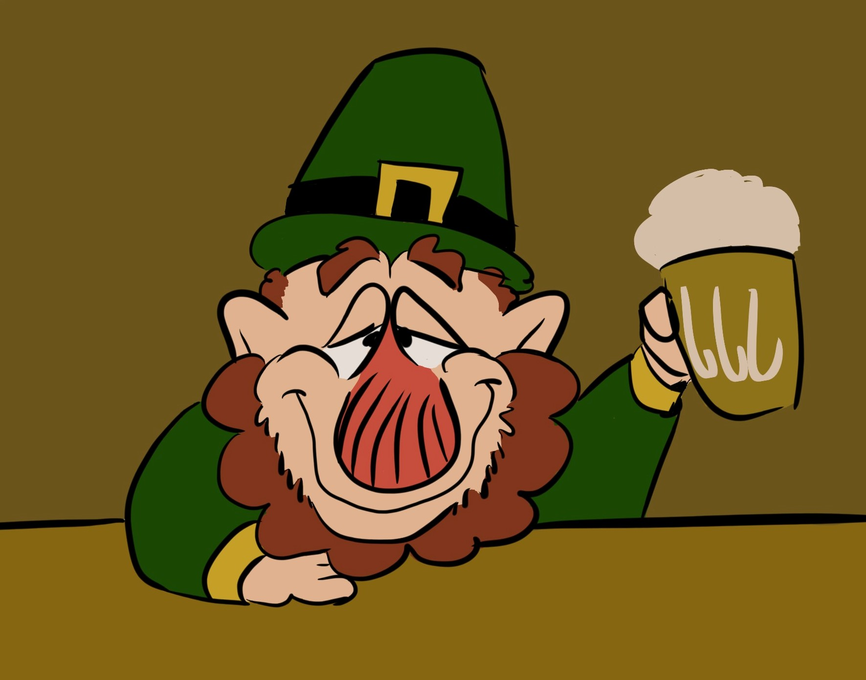 1771x1390 St Patrick's Day Drawing
