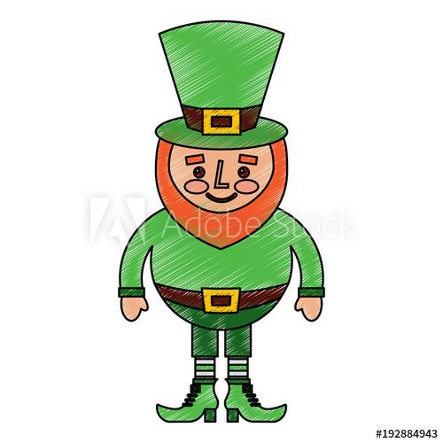 500x500 Cute Cartoon Leprechaun St Patricks Day Mascot Character Vector