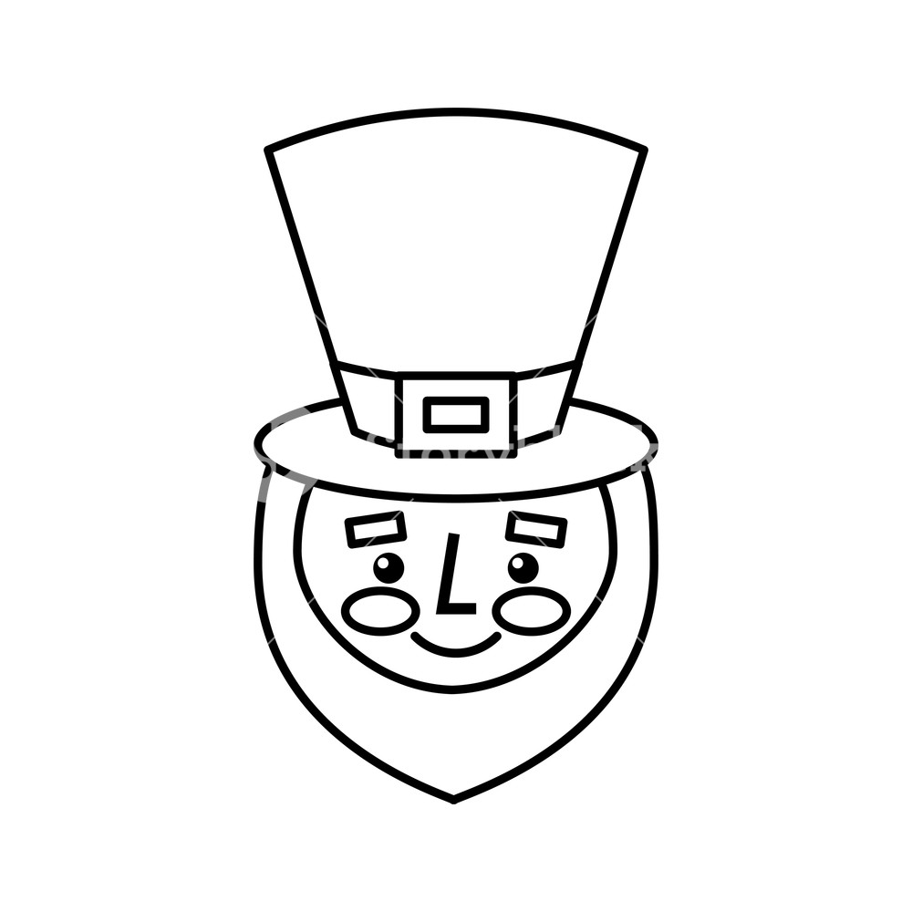 1000x1000 Leprechaun Face With Beard Green Hat For St Patricks Day Vector