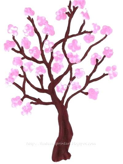 400x536 how to draw a sakura tree draw sakura tree