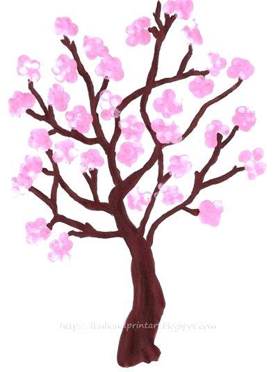 400x536 how to draw a sakura tree draw sakura tree