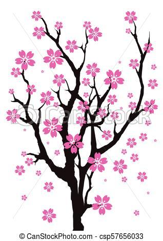 318x470 Sakura Tree An Illustration Of Cherry Blossom Tree