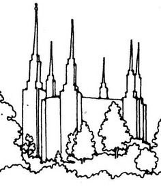 Salt Lake Temple Drawing