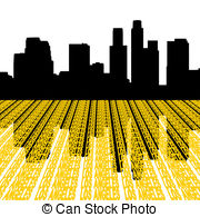 180x195 Los Angeles Skyline Clipart And Stock Illustrations Los