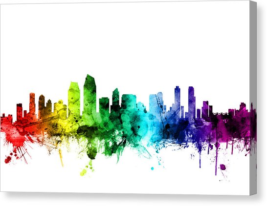 546x422 San Diego Skyline Canvas Prints Fine Art America