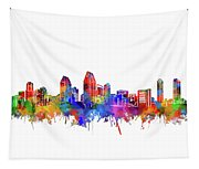 180x153 San Diego Skyline Watercolor Digital Art