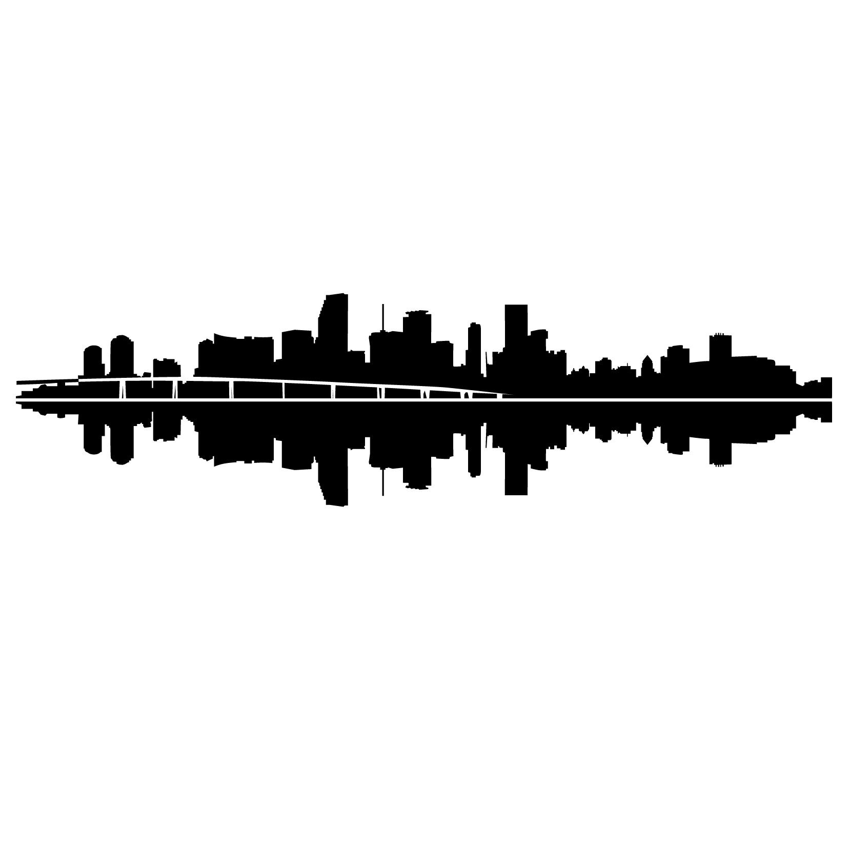 1656x1656 Miami Skyline Silhouette Tattoos Skyline Silhouette, Miami