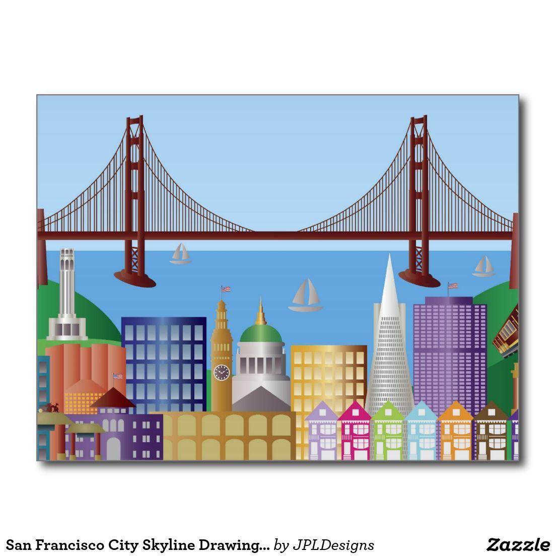 1104x1104 de illustratie po van de tekening van de horizon briefkaart