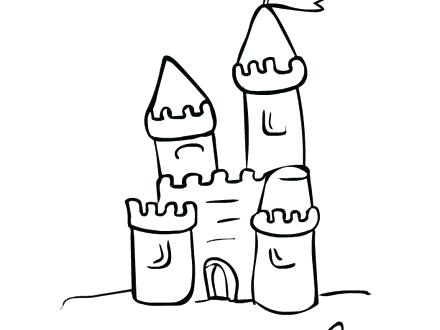 Sand Castle Drawing Free Download Best Sand Castle Drawing