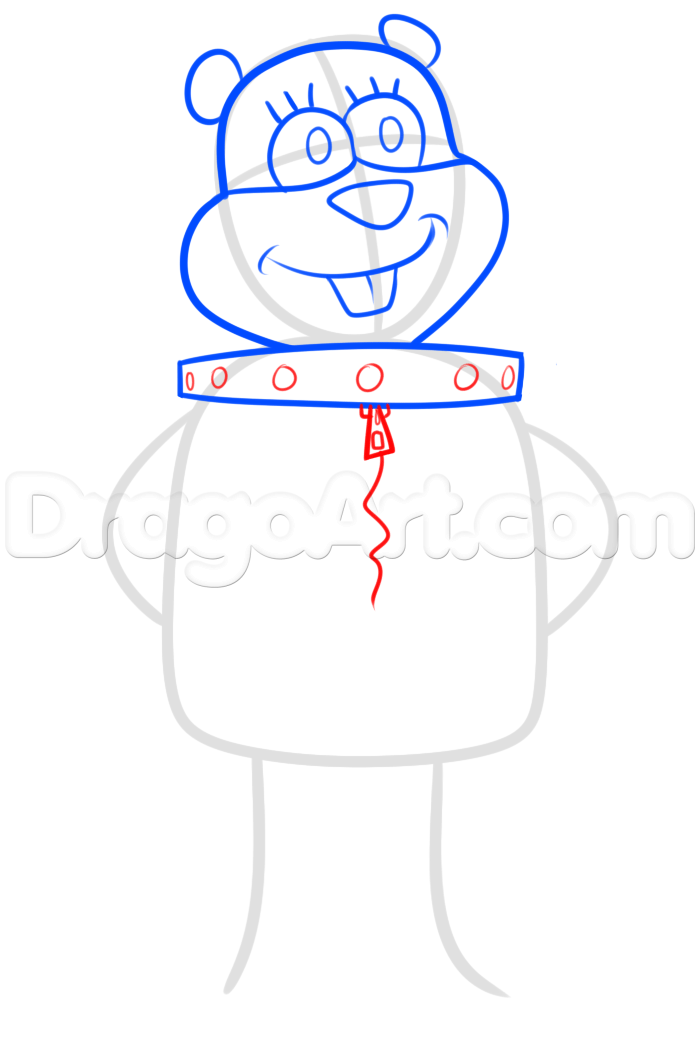 700x1057 how to draw sandy cheeks, step