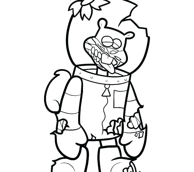 678x600 sandy cheeks coloring pages