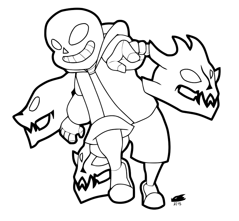 Coloriage Undertale.Sans The Skeleton Drawing Free Download Best Sans The