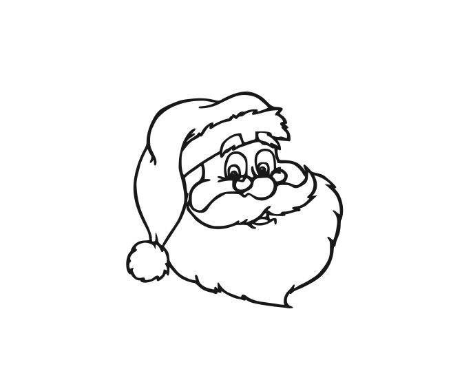 687x555 santa vintage santa santa face santa claus face