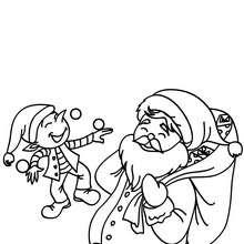 220x220 santa claus and elf juggler coloring pages