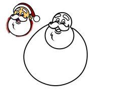 236x211 delightful santa images how to draw santa, santa cartoon