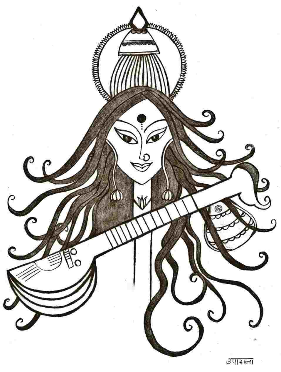 1efc90d85 600x804 Indian Gods Saraswati. 957x1264 Penn And Pencil Goddess  Saraswatirhpennandpencilblogspotcom Penn
