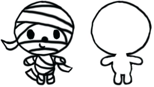 640x360 mummy drawing mummy face doodle mummy drawing steps