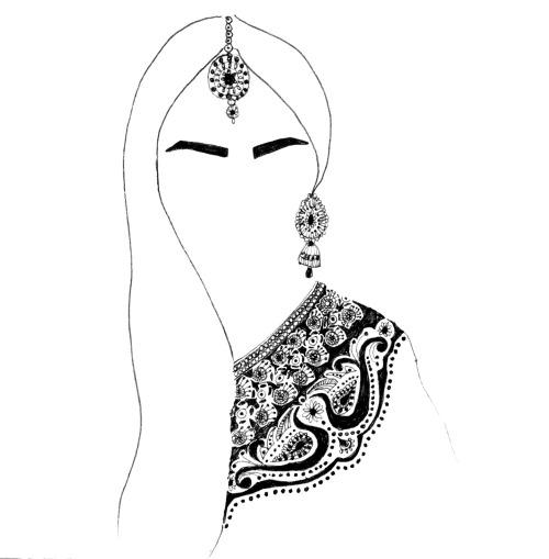 500x509 drawing art indian bindi artists on tumblr arranged marriage zaiba