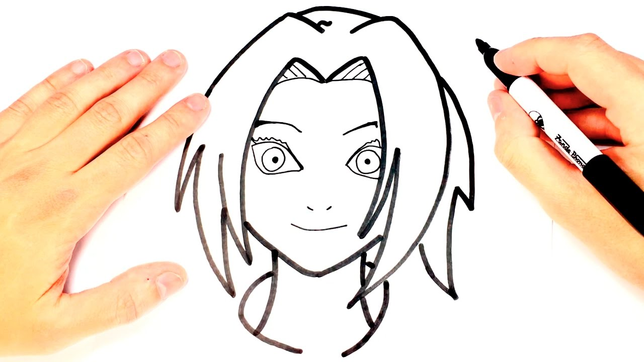 1280x720 how to draw sakura from naruto sakura easy draw tutorial