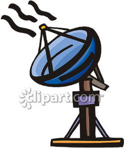 250x300 satellite dish receiving signals