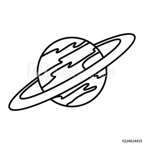 500x500 saturn planet icon outline illustration of saturn planet vector