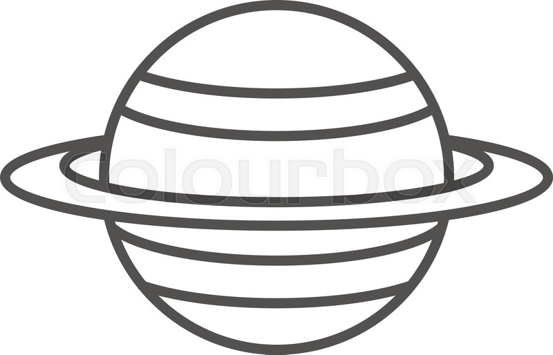 800x514 saturn planet icon outline saturn stock vector colourbox