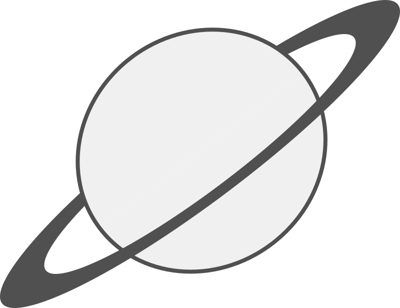 Saturn Planet Drawing