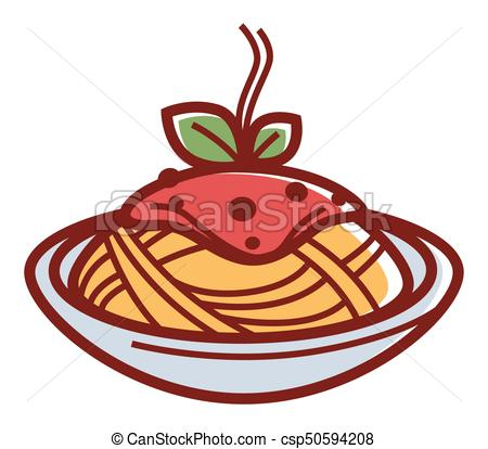 450x414 Delicious Hot Pasta With Red Sauce And Herbs In Deep Bowl Isolated
