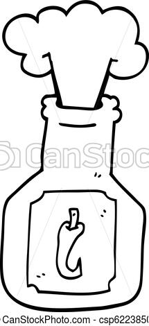 215x470 Line Drawing Cartoon Hot Chili Sauce