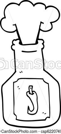 215x470 Line Drawing Cartoon Hot Chlli Sauce