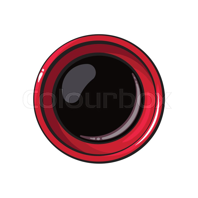 800x800 Top View Drawing Of Soy Sauce Bowl, Stock Vector Colourbox