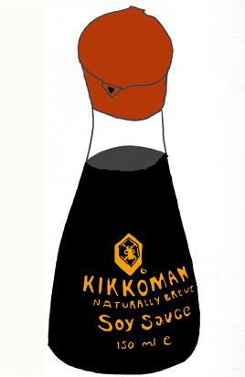 268x413 Kikkoman Soy Sauce In Illustrate= Illustration Art