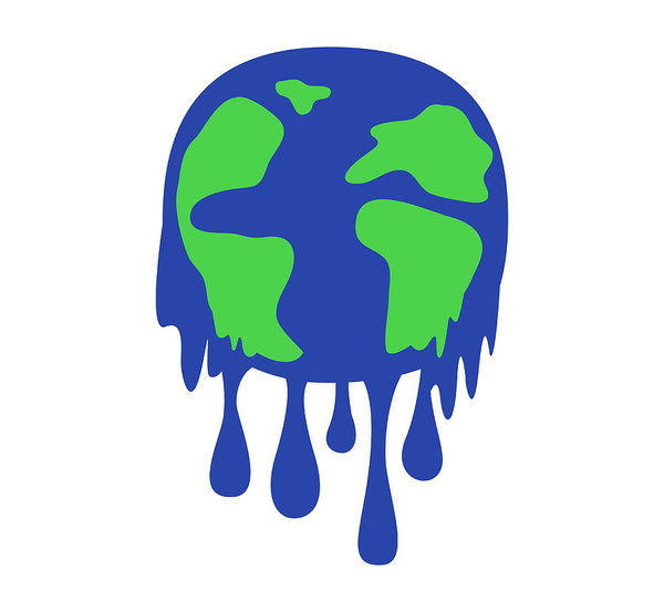 600x553 Global Warming Concept Earth Melting Save The World Vector