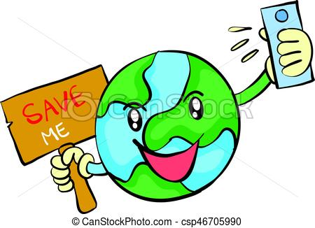 450x326 Save Earth From Environment Doodle Vector Illustration