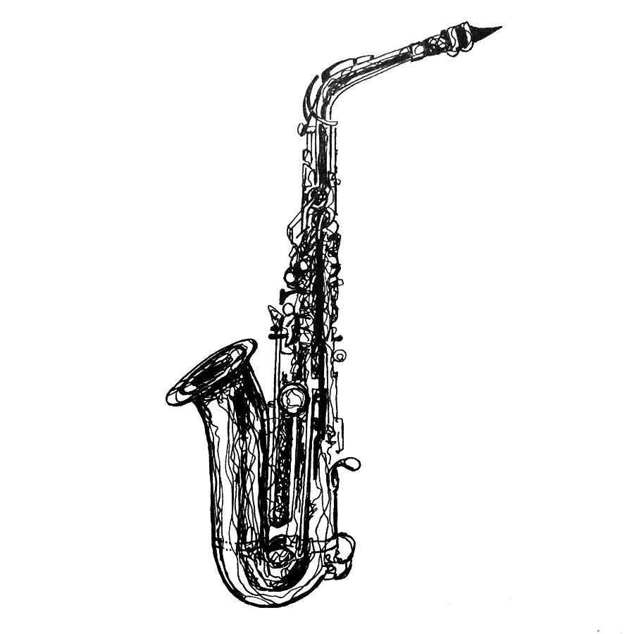 900x900 kh daily drawing daily drawing week saxophone alto ii