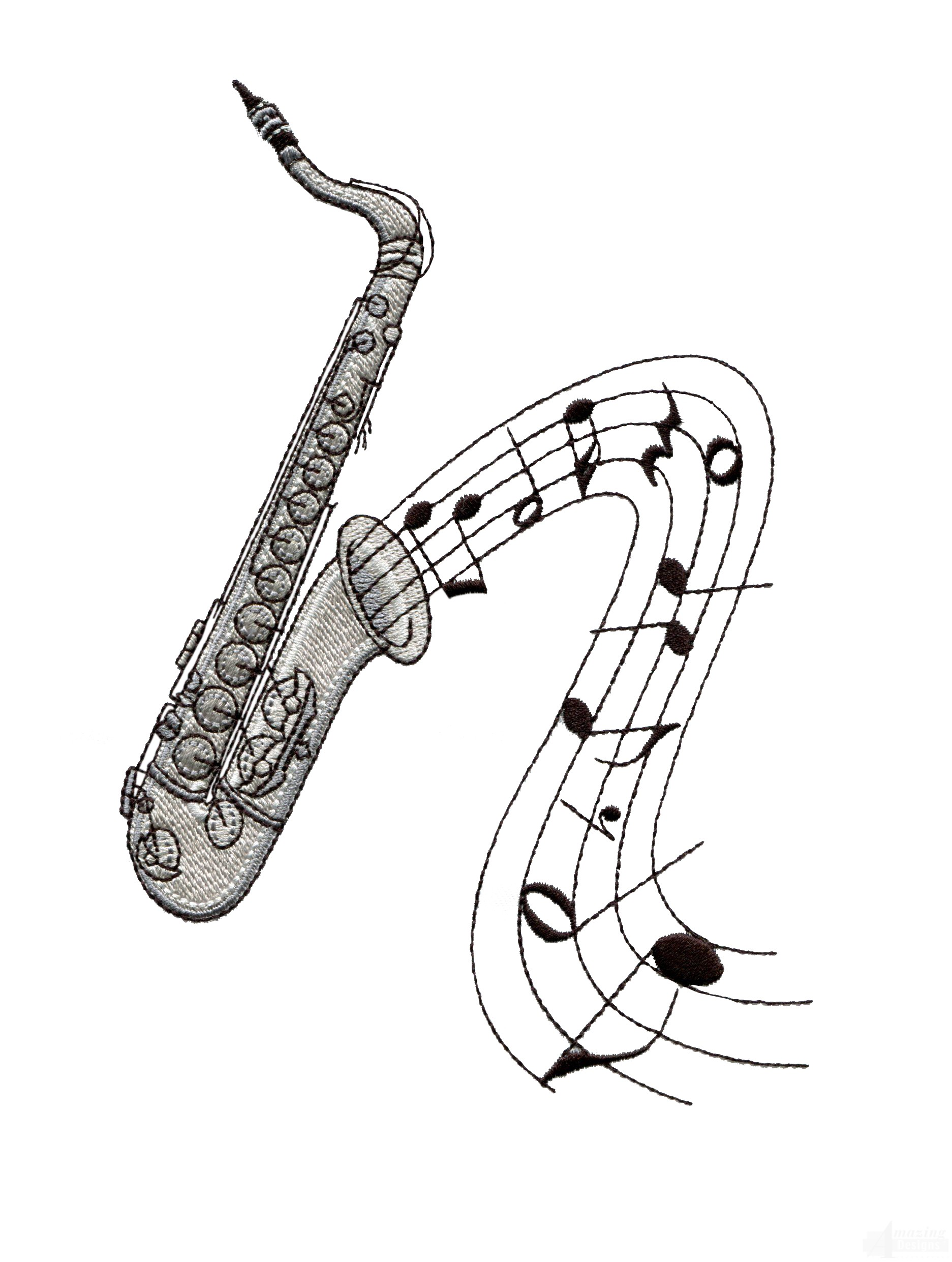 Saxophone Drawing