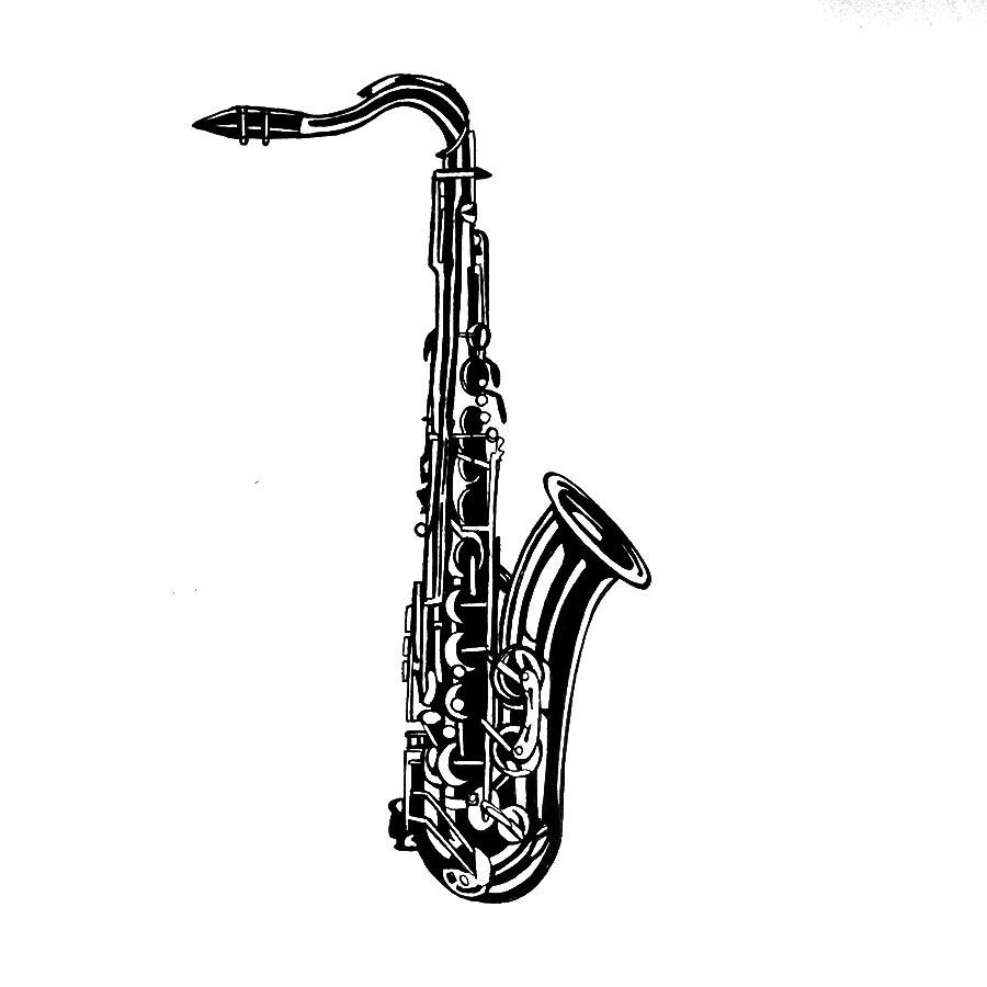 900x900 kh daily drawing daily drawing, week saxophone tenor so