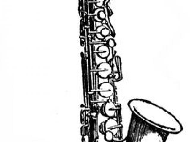 640x480 Drawn Saxophone