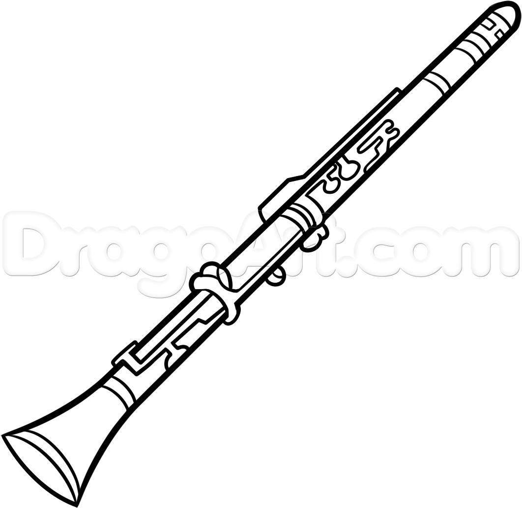 1062x1033 Top Clarinet Pencil Sketch Gallery