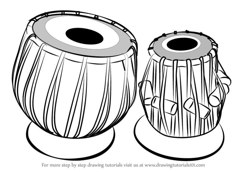 800x567 Learn How To Draw A Tabla