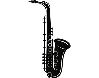 340x270 Saxophone Drawing Etsy