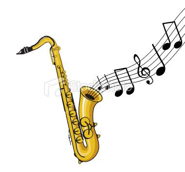 380x355 A Saxophone With Music Notes Coming Out Tattoos Saxophone