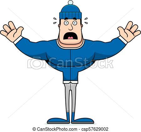 450x422 cartoon scared winter man a cartoon winter man looking scared