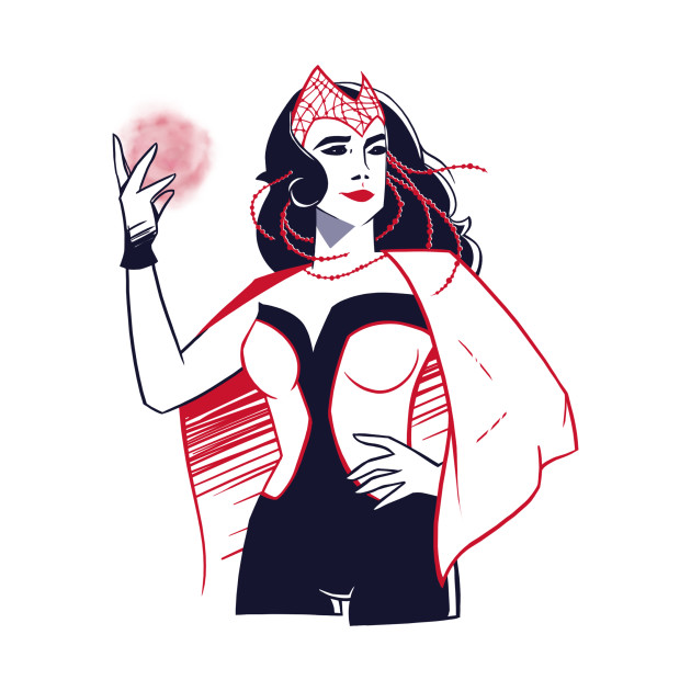 Scarlet Witch Drawing | Free download best Scarlet Witch