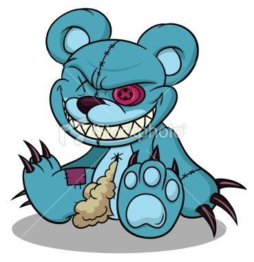 369x380 evil teddy bear evil things teddy bear tattoos, evil teddy