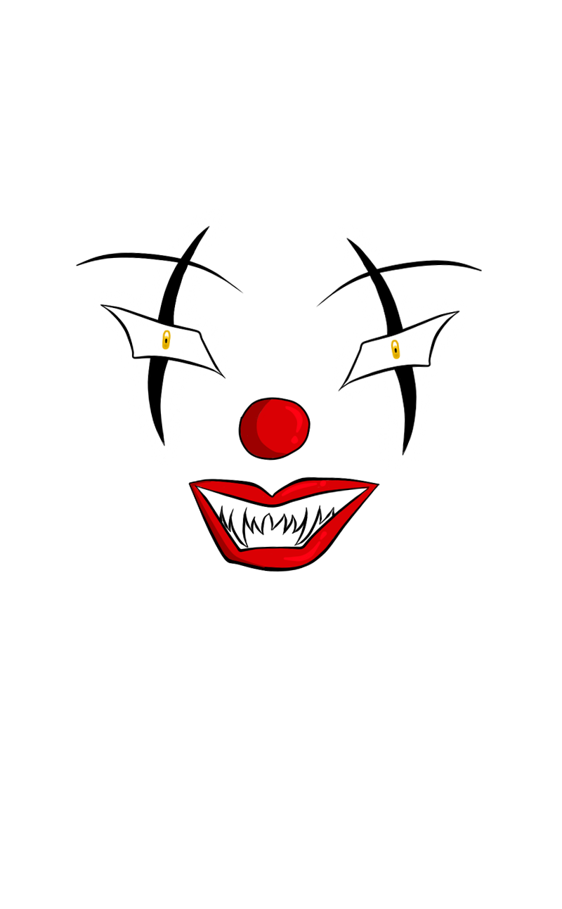 Scary Clown Face Drawing Free Download Best Scary Clown