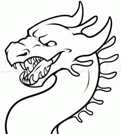 Scary Dragon Drawing