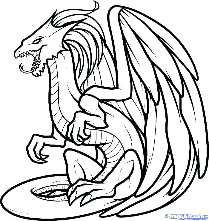 Scary Dragon Drawing | Free download best Scary Dragon ...