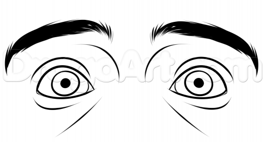 520x279 Learn Drawing Scared Eyes Step
